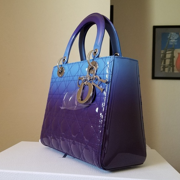 e007040220 Dior Bags | New Purple Blue Ombre Lady Medium Bag | Poshmark